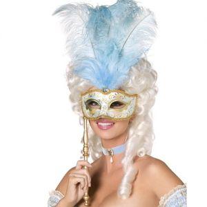 Masquerade Ball Baroque Fantasy Mask - Blue