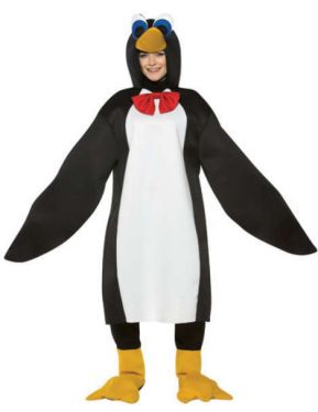 Animal Fancy Dress - Penguin Costume - One Size