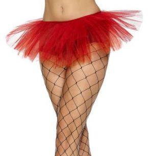 Ladies Fancy Dress - Red 80's Tutu