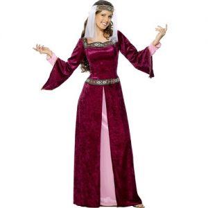 Ladies Medieval Maid Marion Fancy Dress Costume