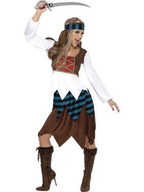 Ladies Caribbean Pirate Costume - M & L