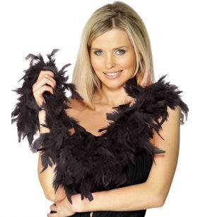 Fancy Dress  Feather Boa - Black