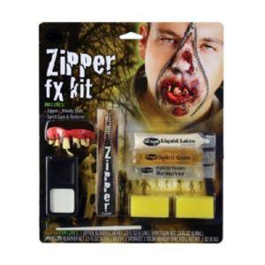 Halloween Zombie Zipper Make Up Kit with Teeth
