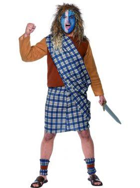 Mens Brave Heart Scotsman Costume - M & L