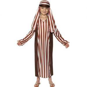 Childrens Christmas Nativity Striped Shepherd Costume