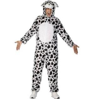 Dog Fancy Dress Costume Dalmation Animal Suit - M & L