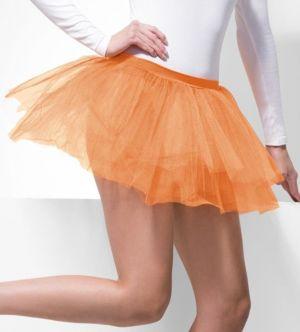 Ladies Fancy Dress Orange 80s Tutu