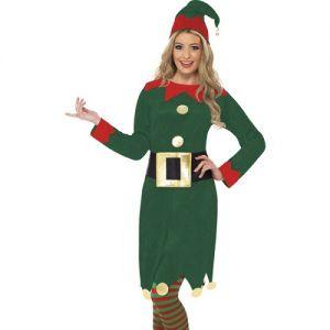 Christmas Fancy Dress Ladies Elf Costume