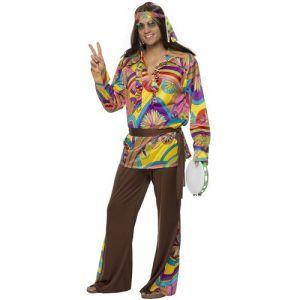 60s Psychedelic Hippy Man Fancy Dress Costume