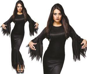 Halloween Ladies Madam Morticia Costume