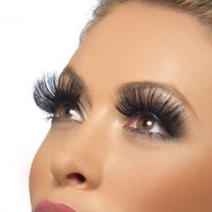 Fancy Dress False Eyelashes by Smiffys - Black
