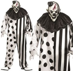 Mens Killer Clown Fancy Dress Costume