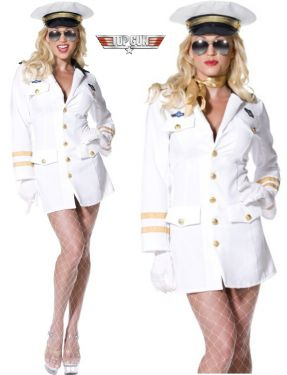 Top Gun Lady Officer Costume m