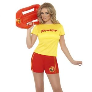 1980s Ladies Baywatch Beach Lifeguard Costume