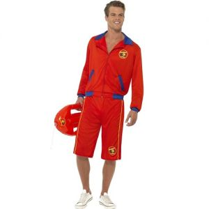 Mens Baywatch Beach Lifeguard Fancy Dress Costume