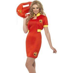 Ladies Baywatch Lifeguard Costume Dress & Jacket