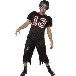 Halloween Fancy Dress Zombie Footballer Costume