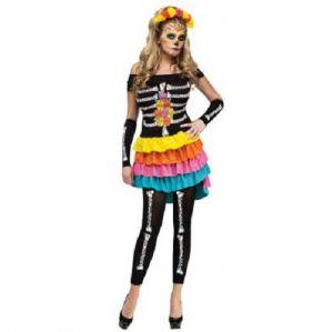 Ladies Halloween Day of the Dead Costume