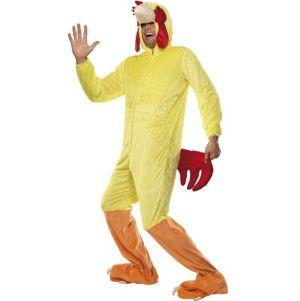 Adult Fancy Dress - Chicken Costume - Full Suit