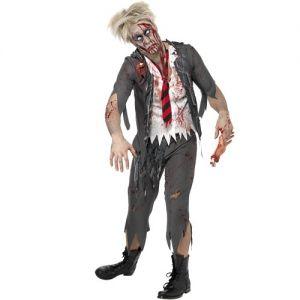 Halloween Fancy Dress Zombie Schoolboy Costume