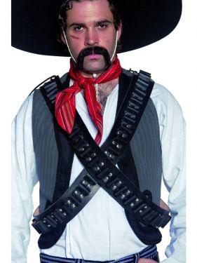 Cowboy Fancy Dress - 2 Authentic Mexican Bandit Bullet Belts