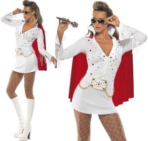 Ladies Licensed Elvis Viva Las Vegas Costume