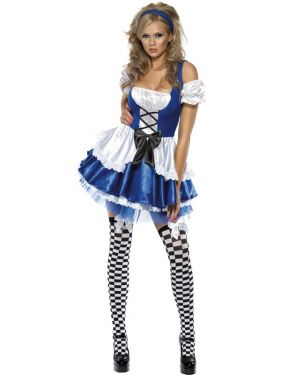 Sexy Fever Alice Fancy Dress Costume - XS, S, M or L