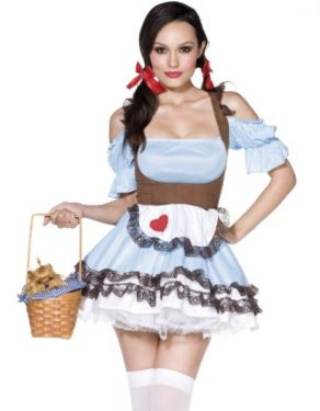 Ladies Fever Miss Rainbow Fancy Dress Costume - M 12-14