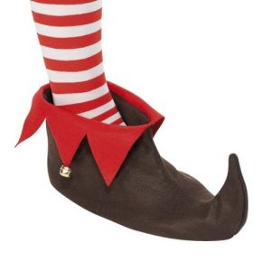 Christmas Fancy Dress Elf Boots - Brown