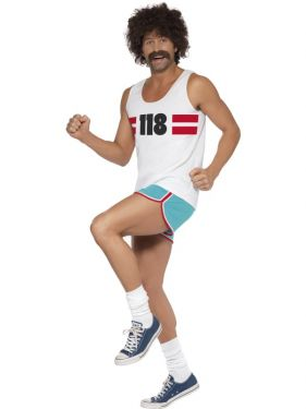 Mens Fancy Dress - 118 118 Man Costume - Medium