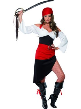 Ladies Sassy Pirate Wench Costume