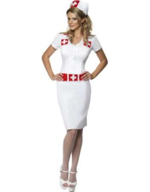 Ladies Sexy Knockout Nurse Costume - M & L