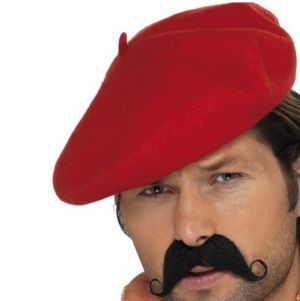Frenchman Fancy Dress Red Beret