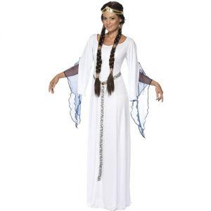 Ladies Medieval Maid Fancy Dress Costume - Medium