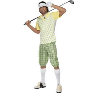Mens Gone Golfing Fancy Dress Costume