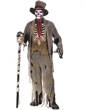 Mens Halloween Grave Groom Costume