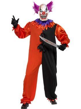 Halloween Cirque Sinister Scary Bo Bo Clown Costume
