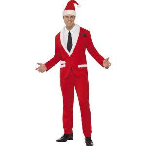 Christmas Fancy Dress Mens Santa Cool Suit Costume