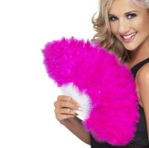 Hen Party Marabou Fan - Pink