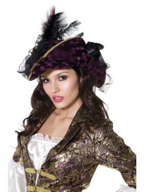Pirate Fancy Dress - Ladies Marauding Pirate Hat