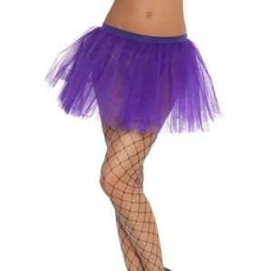 Ladies Fancy Dress - Purple 80s Tutu