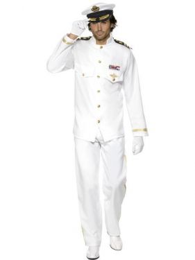 Mens Deluxe Sailor Captain Officer & Gentleman Costume