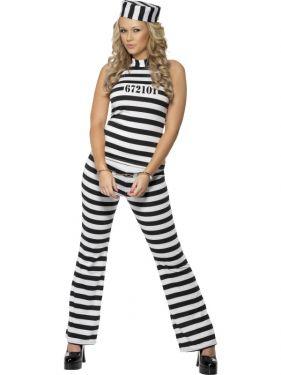 Ladies Fancy Dress - Convict Cutie Costume - Medium