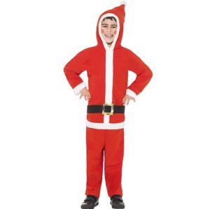 Childrens Santa Boy Onesie Fancy Dress Costume - S, M & L