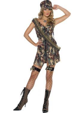 Army Fancy Dress Sexy Army Girl Costume