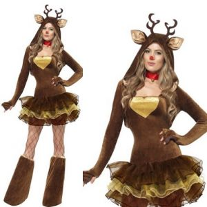 Ladies Reindeer Costume - S, M & L