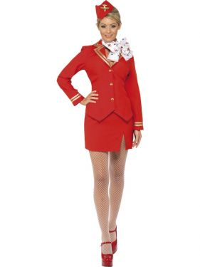 1980s Sexy Trolley Dolly Stewardess Costume