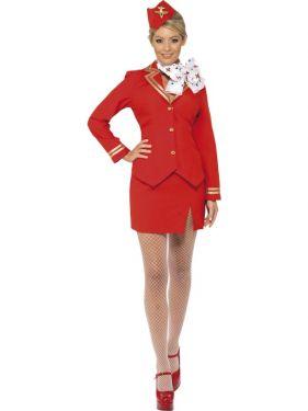 1980s Sexy Trolley Dolly Stewardess Costume