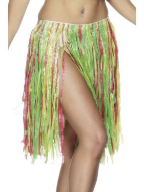 Elasticated Hawaiian Hula Skirt Fancy Dress - Multi