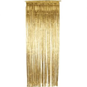 Christmas Fancy Dress Decoration - Door Shimmer Curtain - Gold